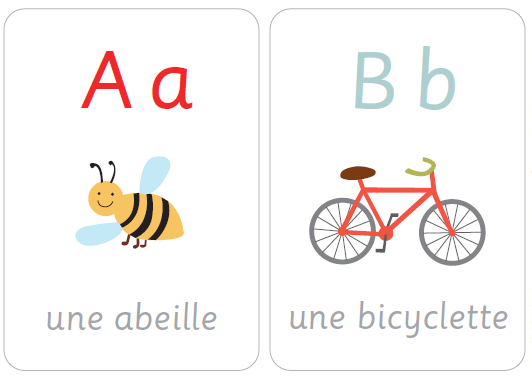 Карточки с французскими буквами для распечатки 1