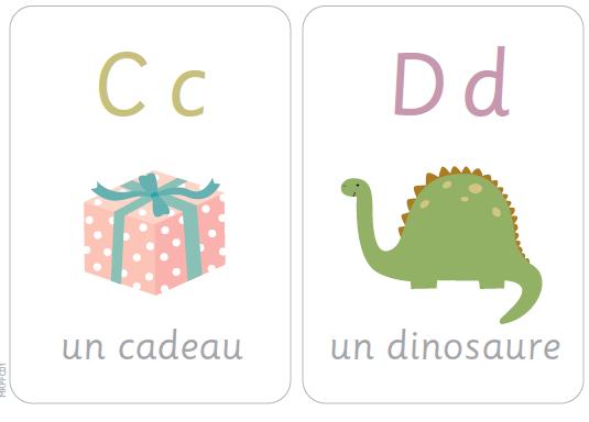 Карточки с французскими буквами для распечатки 2