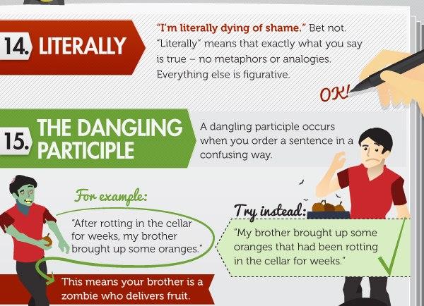 15 глупых ошибок в английском языке (инфографика) - 9