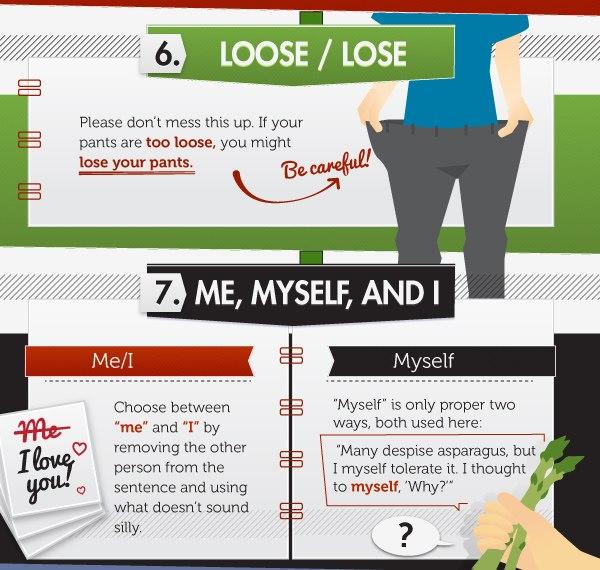 15 глупых ошибок в английском языке (инфографика) - 4