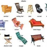 Стулья и диваны в английском языке