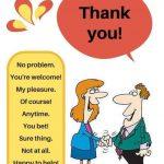 «Не за что» на английском языке — в ответ на «спасибо»