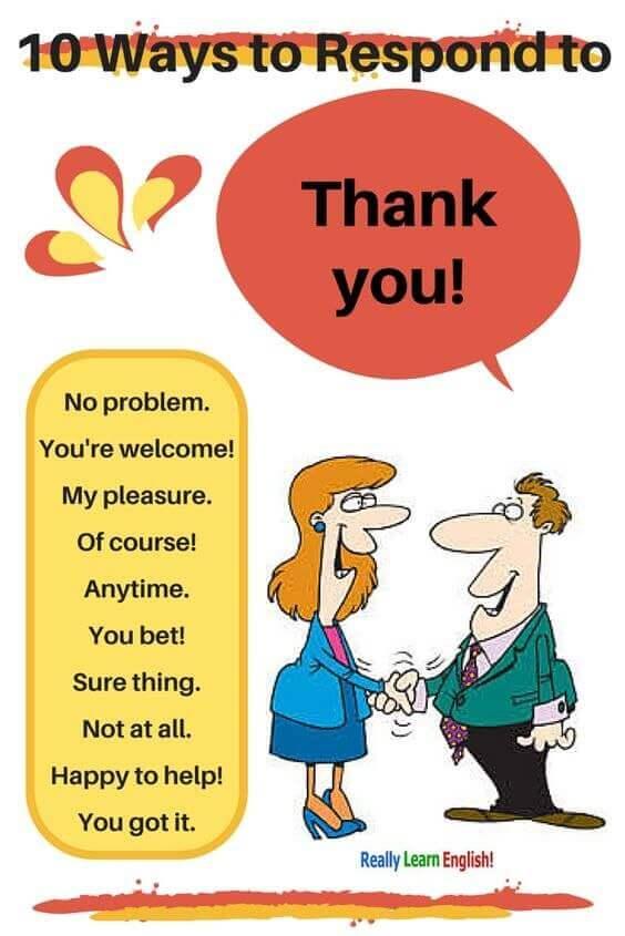10 способов поблагодарить на английиском