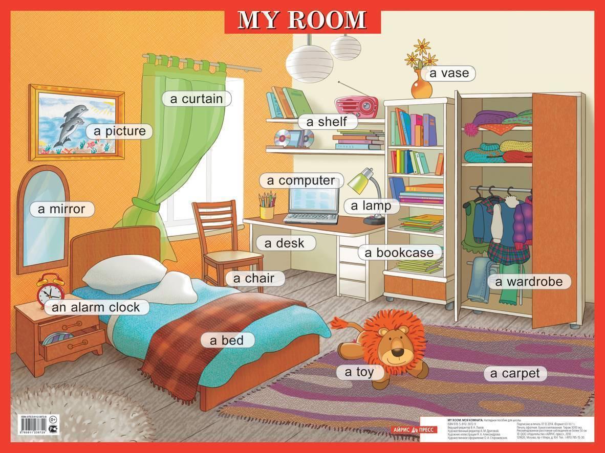 Описание комнаты на английском языке c переводом на русский
